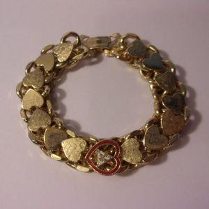 Vintage Fraternal Moose Club Gold Tone Bracelet